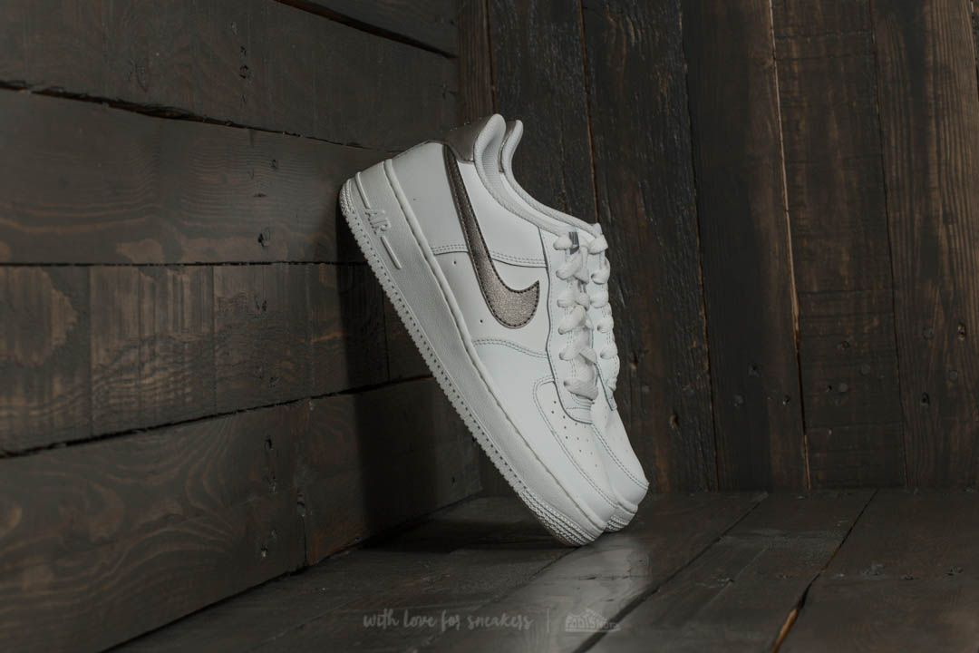 e7935d286ee Nike Air Force 1 (GS) Summit White/ Metallic Pewter | Footshop