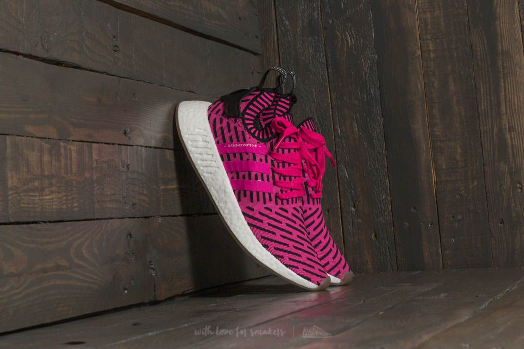 f05ed556779dd adidas NMD R2 Primeknit Shock Pink  Shock Pink  Core Black
