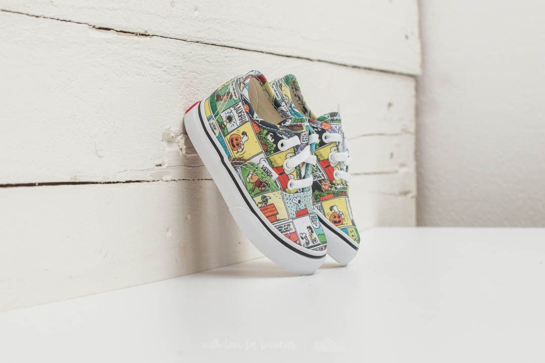 Vans x Peanuts Authentic Comics  Black  True White  fbf5348dae