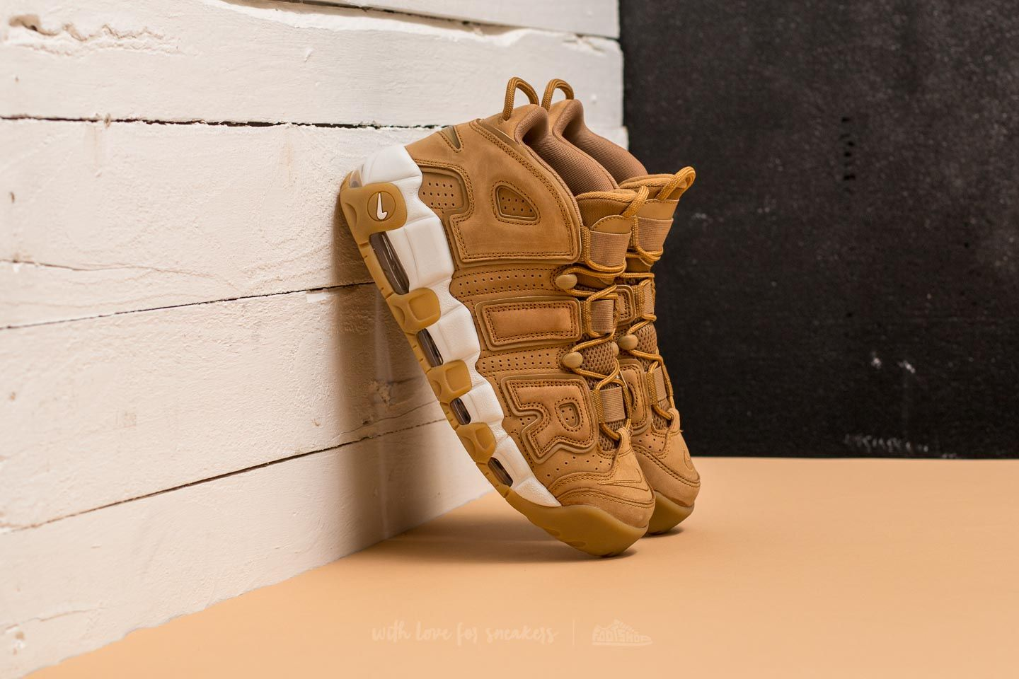 voce Aratro Baffi  Men's shoes Nike Air More Uptempo´96 Premium Flax/ Flax - Phantom | Footshop