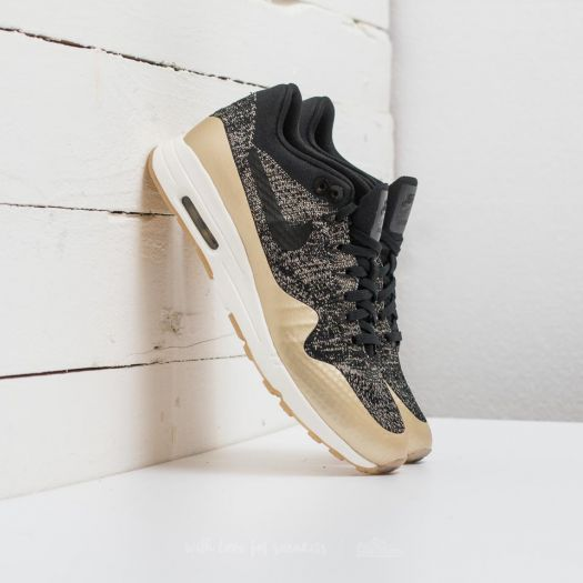 Nike W Air Max 1 Ultra 2.0 Flyknit Metallic Black Black
