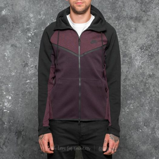 Nike Sportswear Tech Fleece Windrunner Hoodie Port Wine Heather Black | Footshop