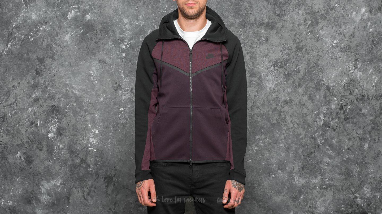 Nike Sportswear Tech Fleece Windrunner Hoodie Port Wine  Heather  Black 468ca0a29038