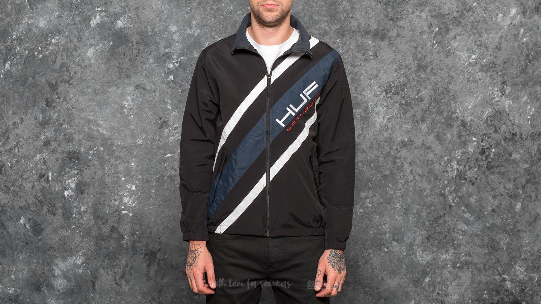 HUF Palisades Track Jacket Black za skvělou cenu 1 590 Kč koupíte na Footshop.cz