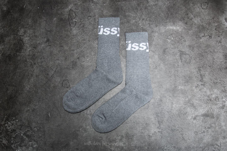 Stüssy Jacquard Logo Socks Grey Heather za skvělou cenu 590 Kč koupíte na Footshop.cz