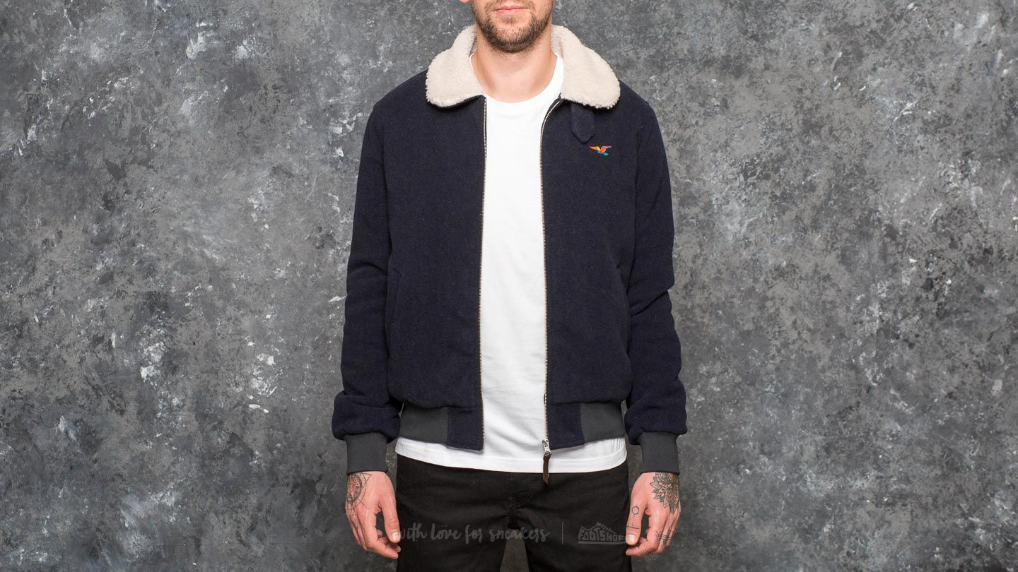 by Parra Topper Harley Wool Jacket Dark Navy Blue