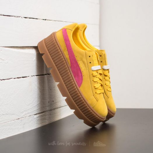 huge discount b303c d512d Puma Fenty Cleated Creeper Suede Wn's Lemon/ Carmine ...
