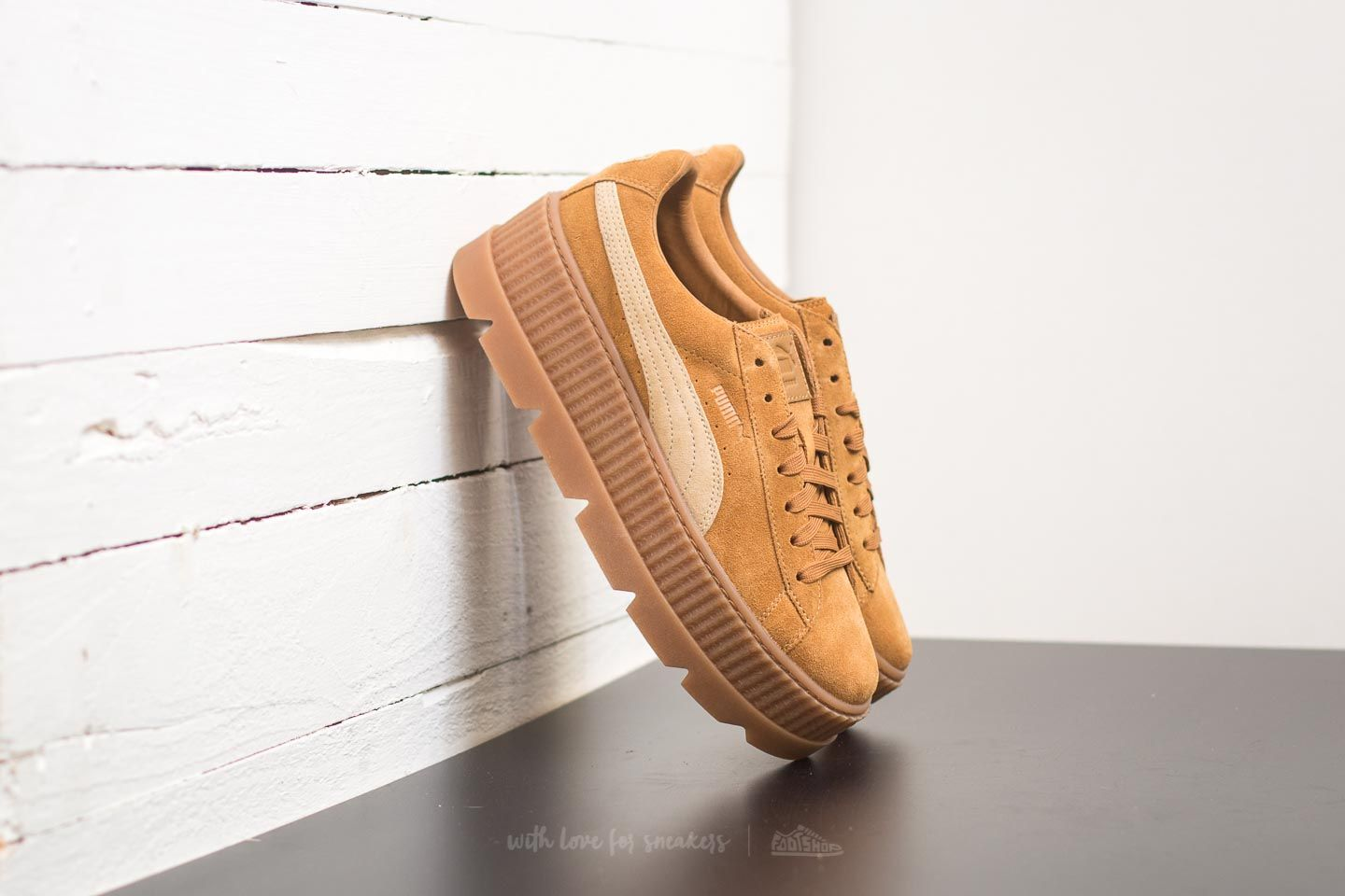 d91927d44b6a Puma Fenty Cleated Creeper Suede Golden Brown-Lark