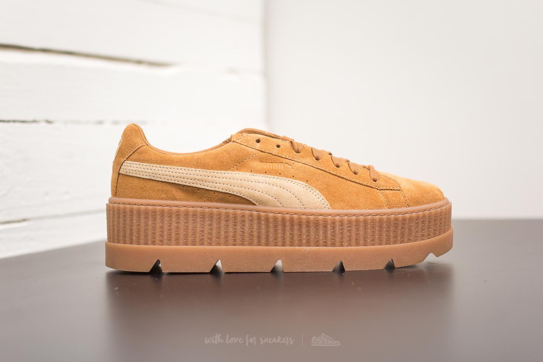 sale retailer ae1ba c7983 Puma Fenty Cleated Creeper Suede Golden Brown-Lark | Footshop