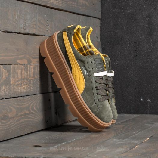 size 40 26664 7edbd Puma Fenty Cleated Creeper Suede Wn's Rosin-Lemon-Vanilla Ice | Footshop