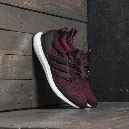 fashion outlet boutique details for adidas UltraBoost Dark Burgundy/ Core Black | Footshop