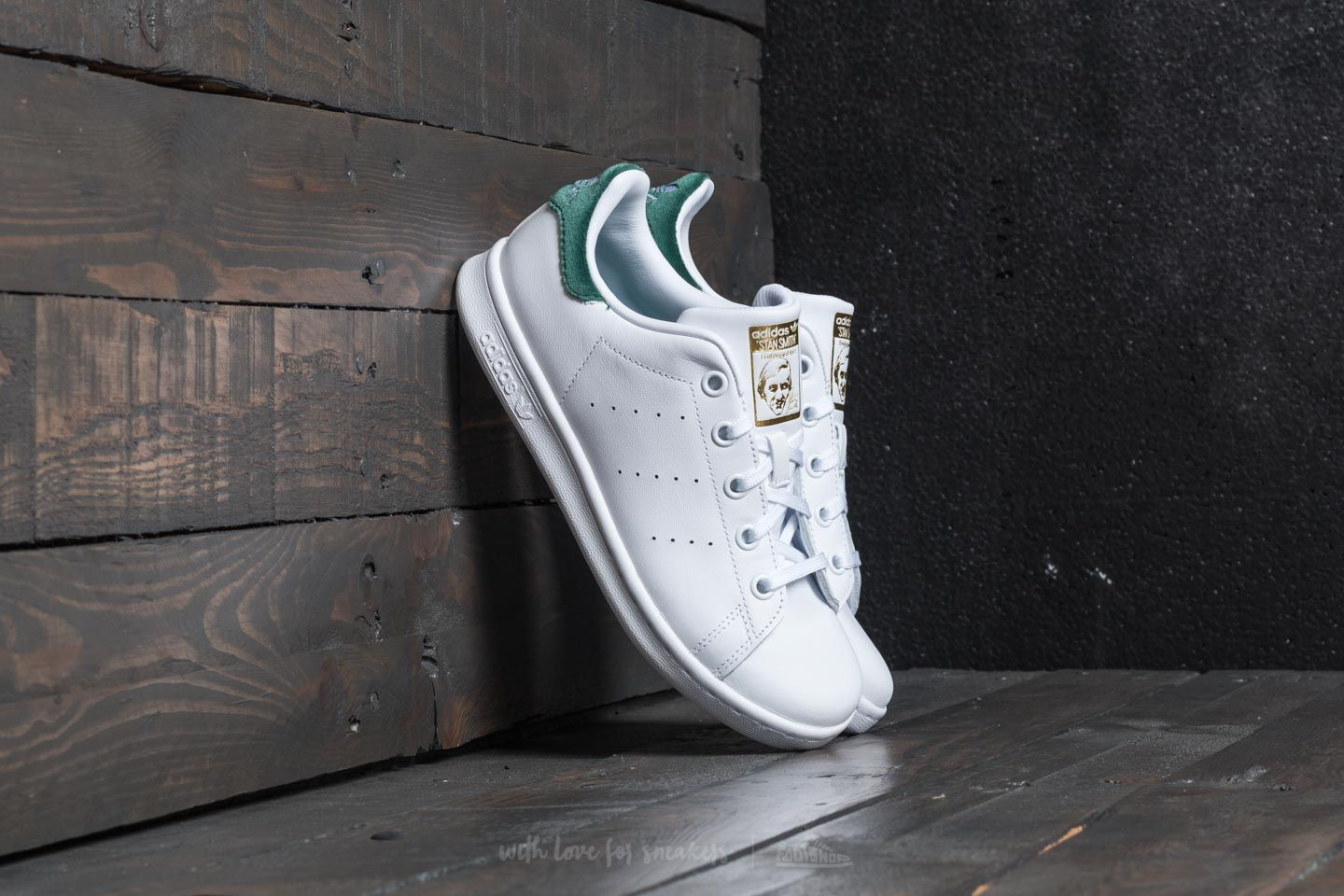 adidas Stan Smith C Ftw White  Ftw White  Core Green  13e525d63