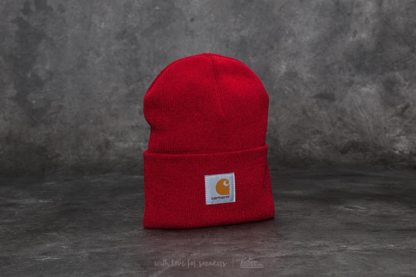 Carhartt WIP Acrylic Watch Hat Blast Red  bb5262a9cd2