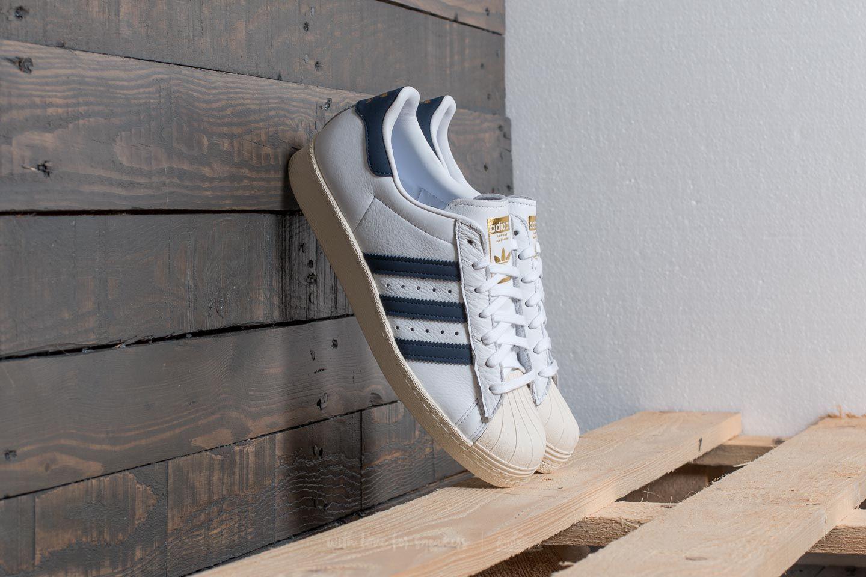 adidas Superstar 80s Ftw White/ Trace Blue/ Grey Two za skvělou cenu 2 690 Kč koupíte na Footshop.cz