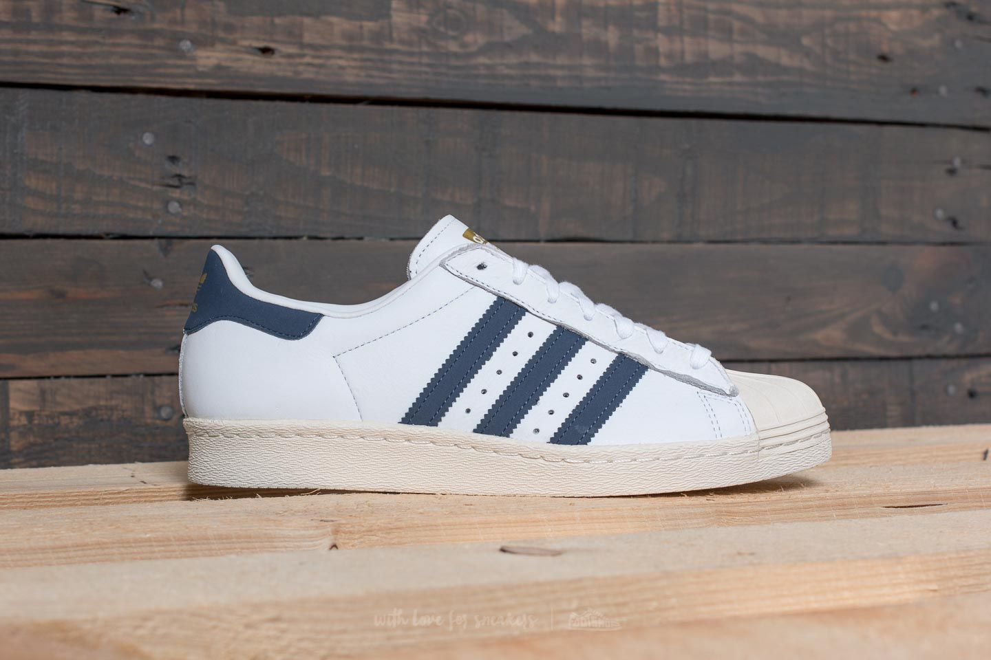 82dfd62fca1065 adidas Superstar 80s Ftw White  Trace Blue  Grey Two at a great price £