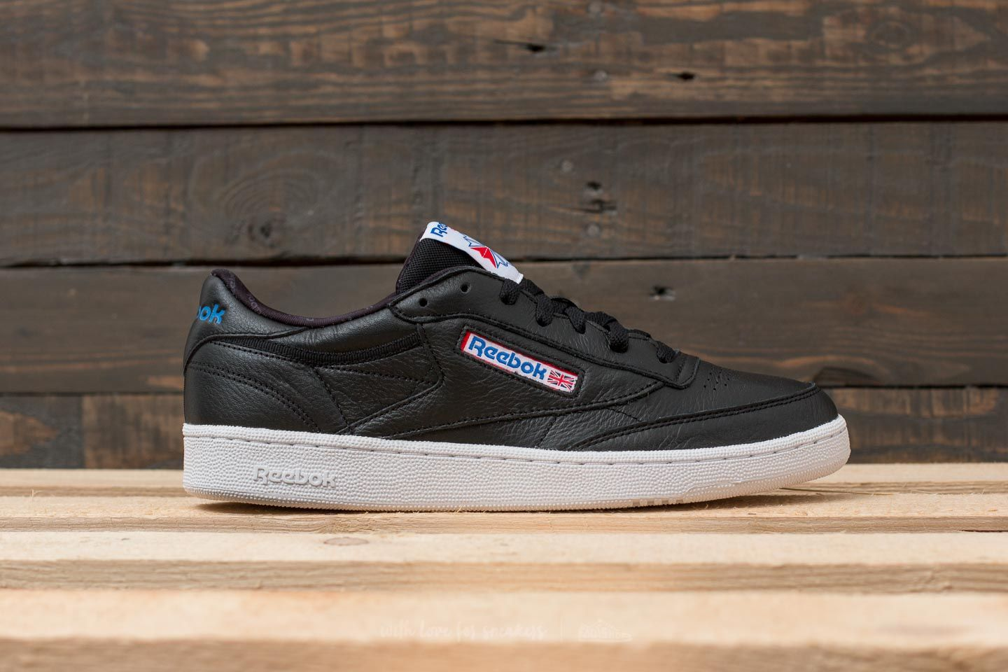 414a30319f3 Reebok Club C 85 SO Black  White  Vital Blue at a great price £