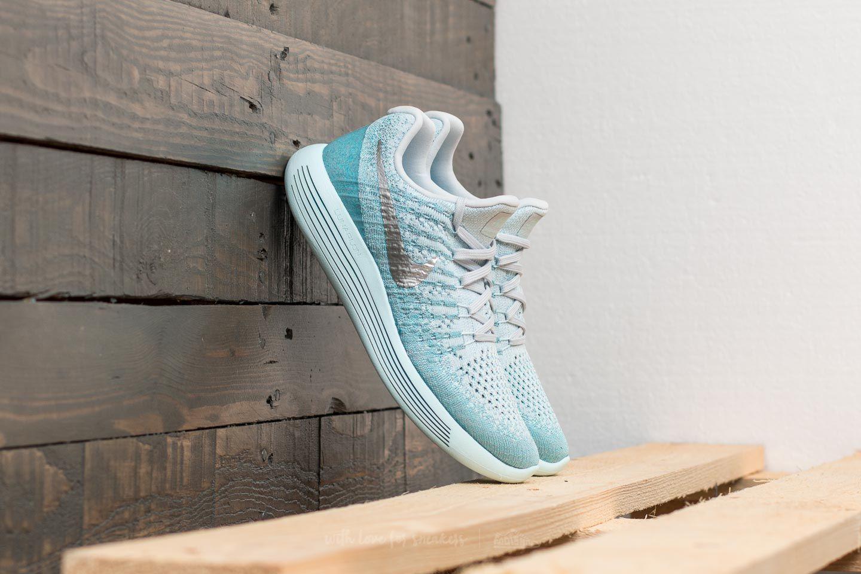 4354d5902d2 Nike W Lunarepic Low Flyknit 2 Glacier Blue  Metallic Silver