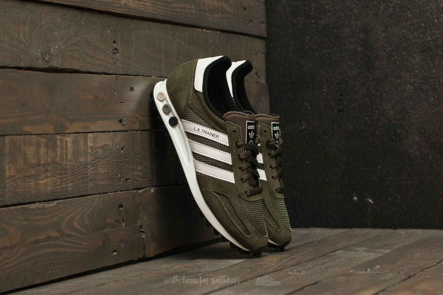 adidas La Trainer OG Night Cargo/ Ftw White/ Core Black | Footshop