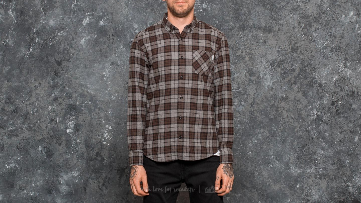 Carhartt WIP Longsleeve Norton Shirt Dark Grey Heather