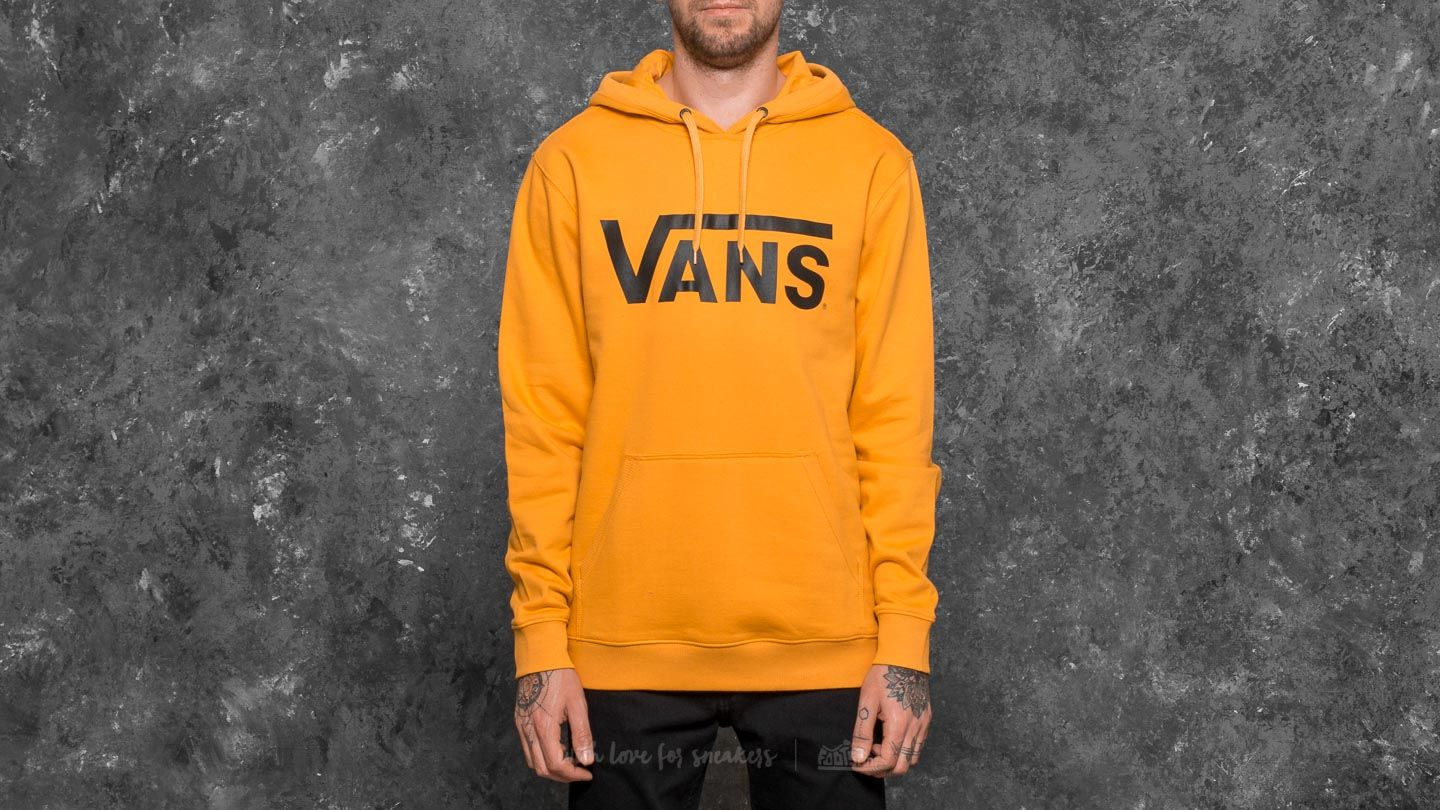 ce1a7302 Vans Classic Pullover Hoodie Mineral Yellow-Black | Footshop
