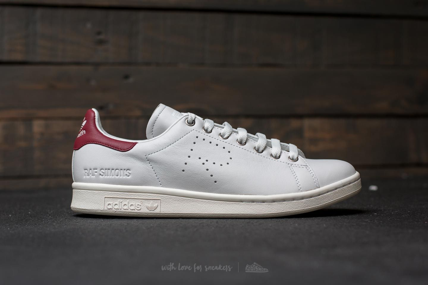 hot sale online bef6a 49819 ... ireland adidas x raf simons stan smith vintage white collegiate  burgundy at a great price 181
