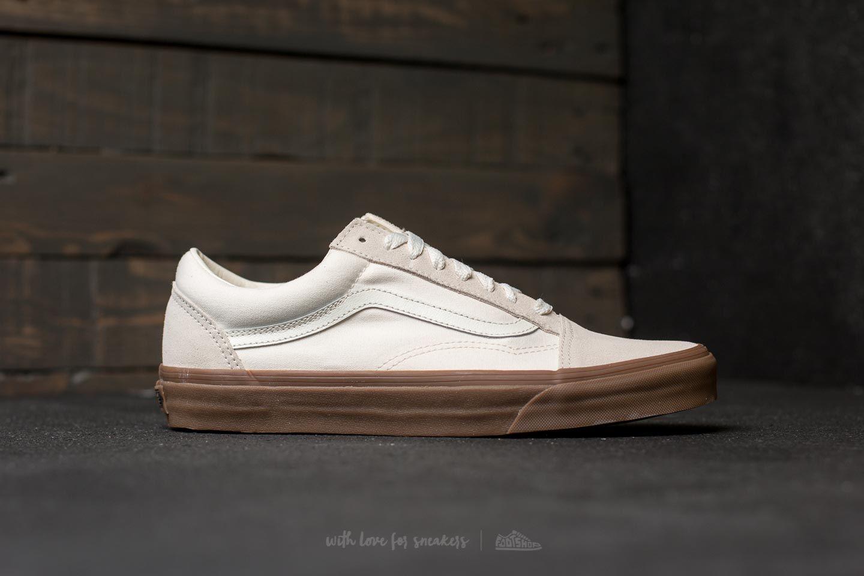 Vans Old Skool (Suede Canvas) White Gum | Footshop