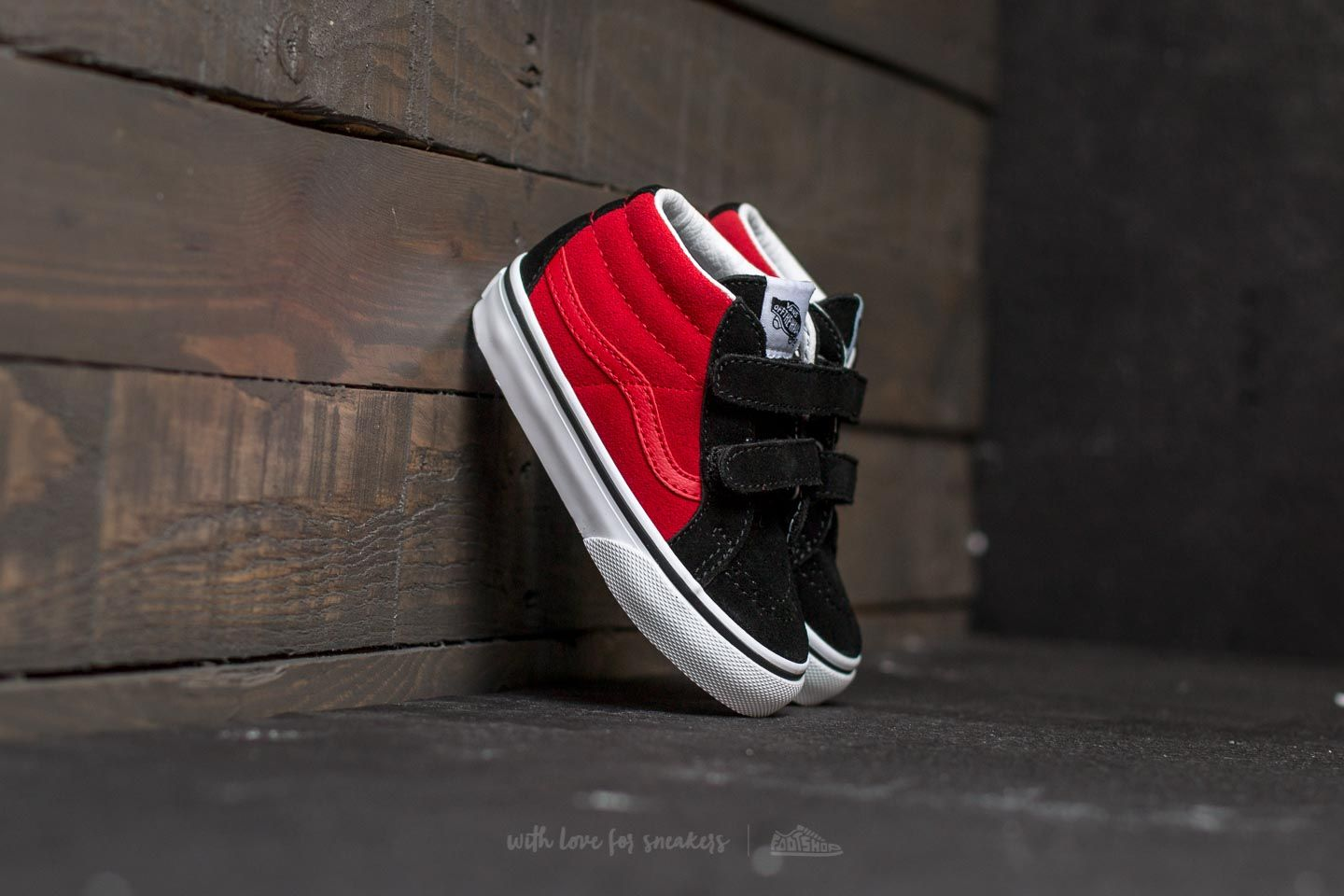 Vans Sk8-Mid Reissue V (2-Tone) Black  Racing Red  4bf3d0436