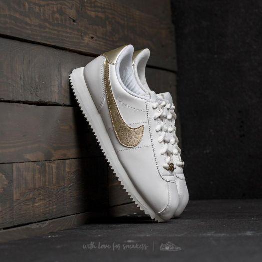promo code 31414 36da2 Nike Cortez Basic SL (GS) Summit White/ Light Gold Star ...