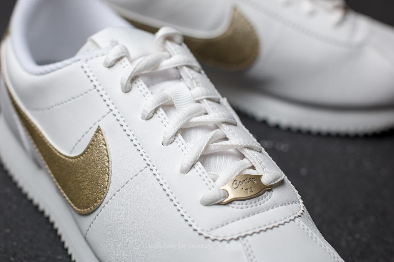 Nike Cortez Basic SL (GS) Summit White Light Gold Star