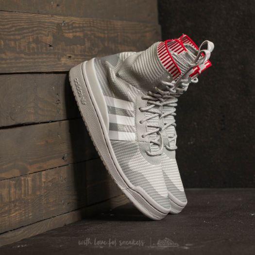 adidas Forum Winter Primeknit Grey Two Ftw White Scarlet