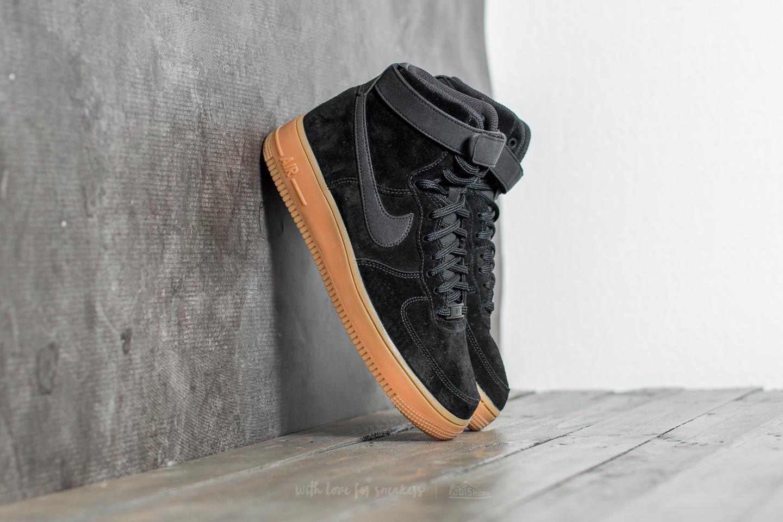 Nike Wmns Air Force 1 Hi SE Black  Black-Gum Med Brown  1fc4418ab5