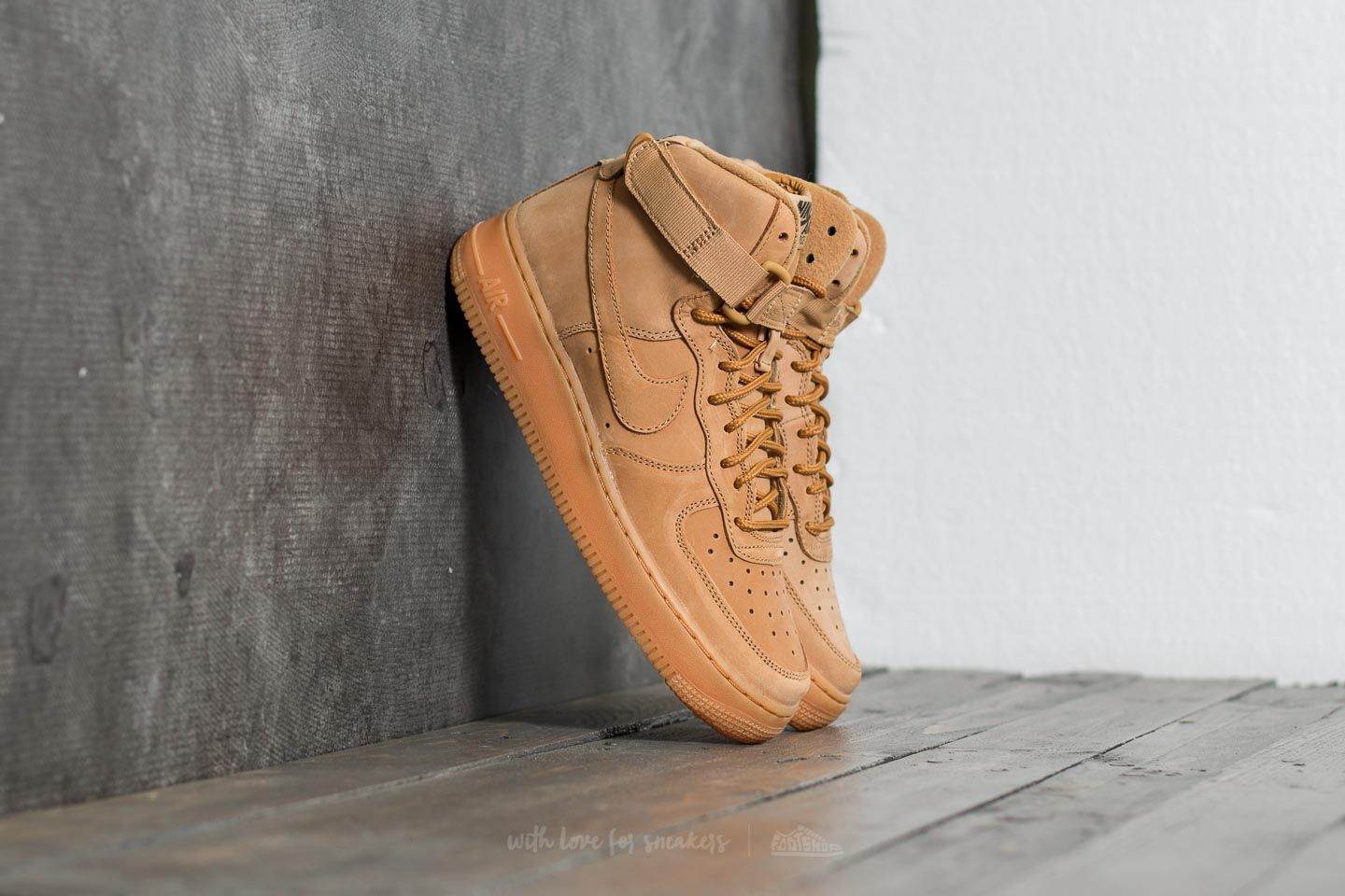 new concept e9ee3 93ae5 Nike Air Force 1 High WB (GS). Flax  ...