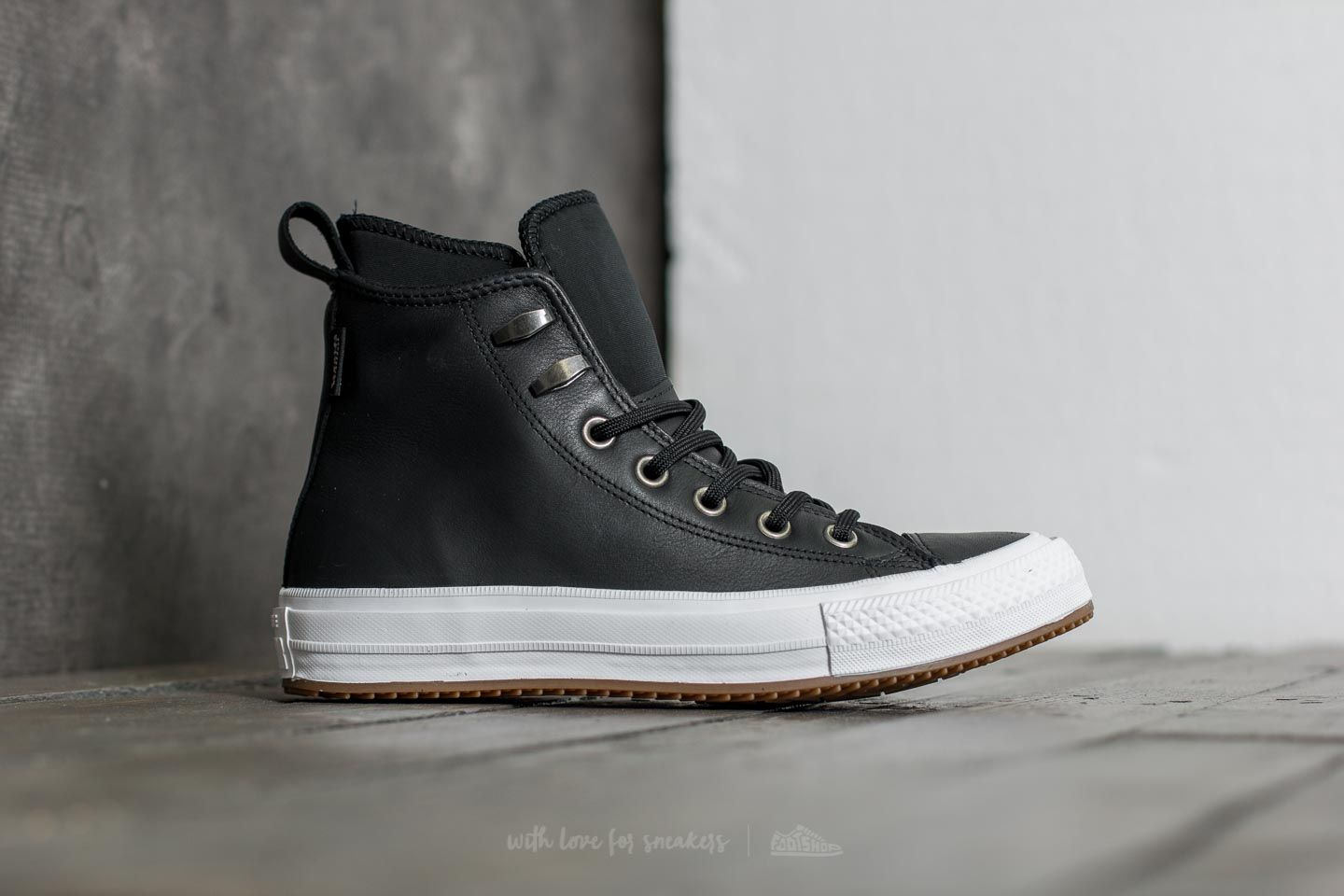 69f2a99edf40 Converse Chuck Taylor All Star Waterproof Boot Hi Black  Black  White at a  great