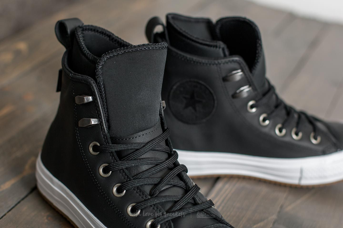d4d78217340 Converse Chuck Taylor All Star Waterproof Boot Hi Black  Black  White at a  great