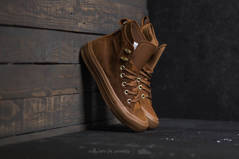 aac5b1d5c61 Converse Chuck Taylor All Star Waterproof Boot Hi Brown  Brown  Brass