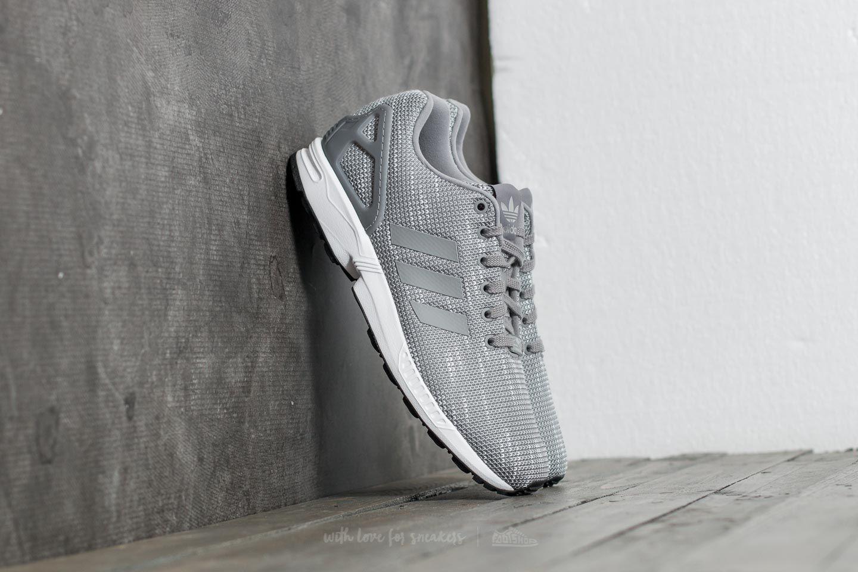 828d82d54ae3f adidas ZX Flux Grey Three  Grey Three  Ftw White