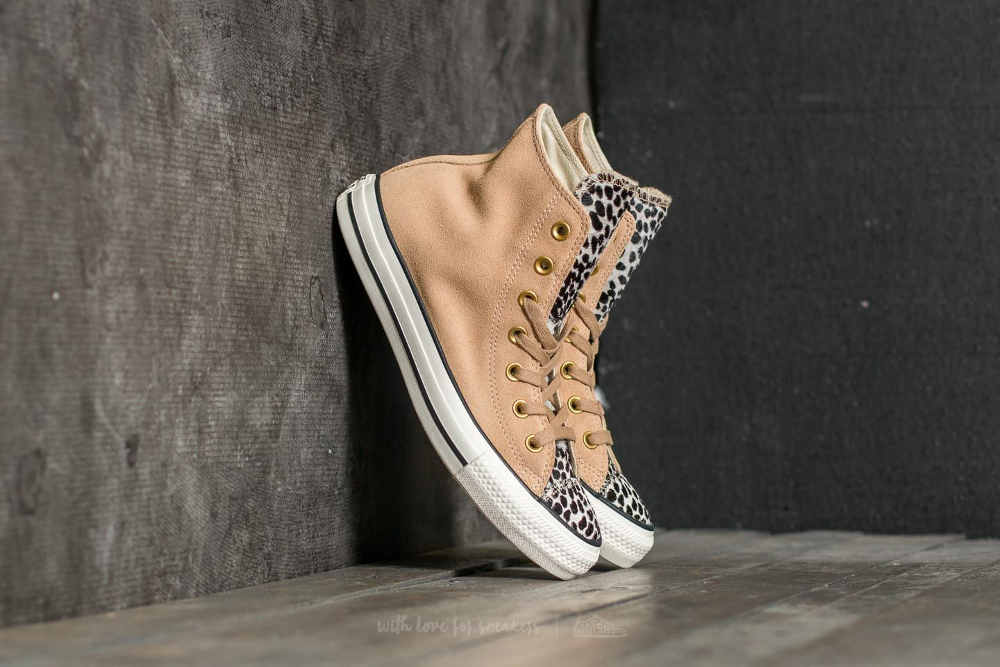 32a48d26ab06cd Converse Chuck Taylor All Star Hi Light Fawn  Black  Egret
