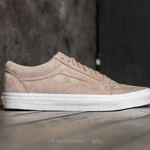 Vans Chaussures Old Skool Pig Suede HumusBlanc De Blanc