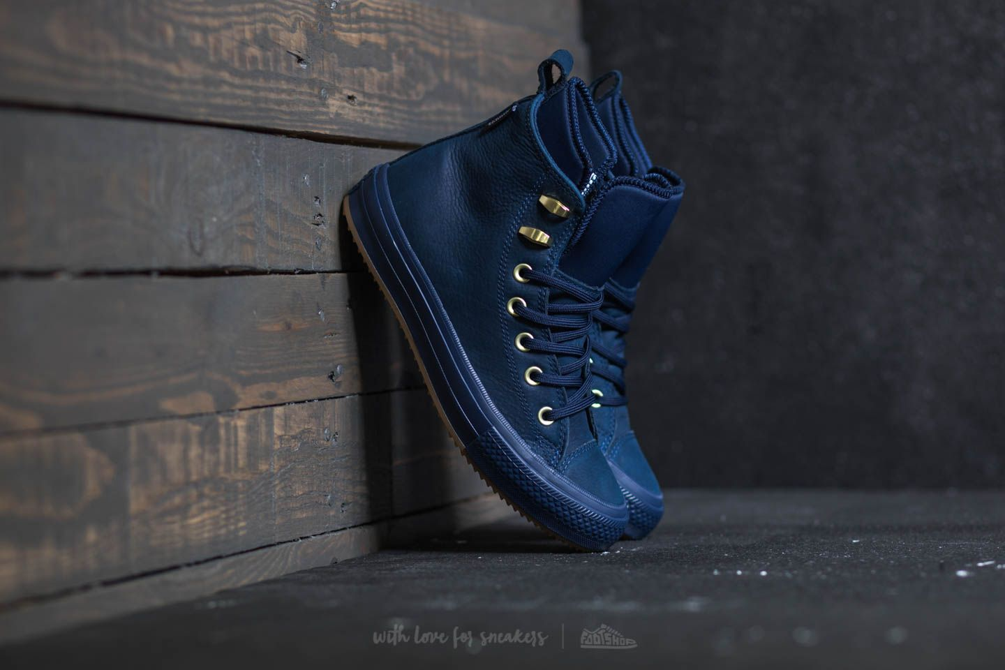 5a034752f2 Converse Chuck Taylor All Star Waterproof Boot Hi Midnight Navy ...