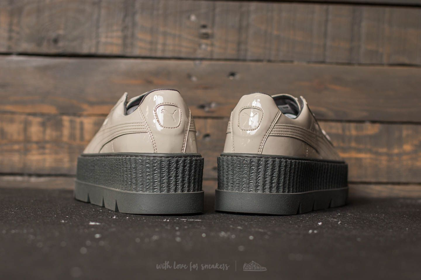 858c022efe227d Puma Fenty x Rihanna Pointy Creeper Patent Dove-Glacier Gray at a great  price 92