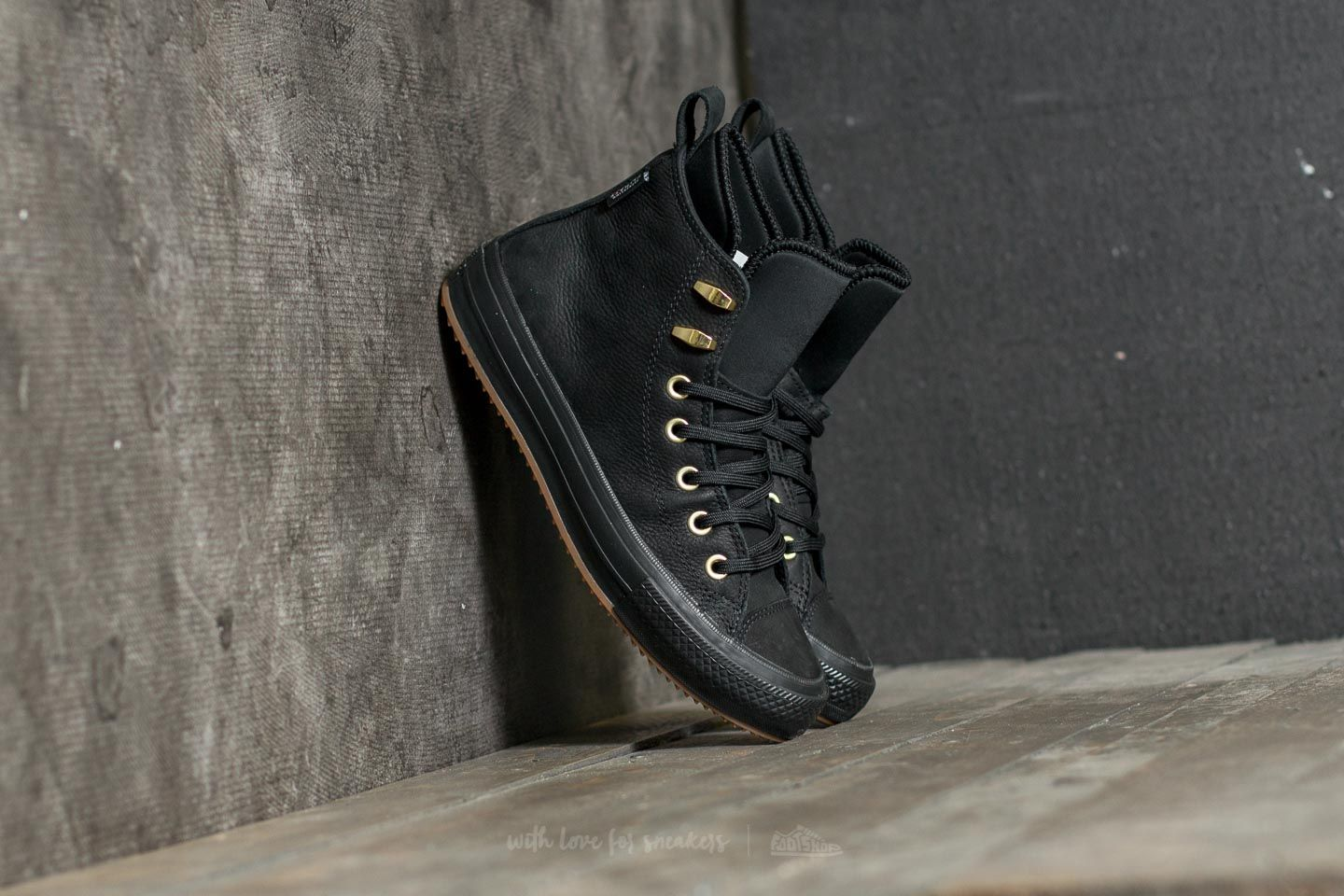 ac952e575d4f Converse Chuck Taylor All Star WP Boot Hi Black  Black  Brass ...