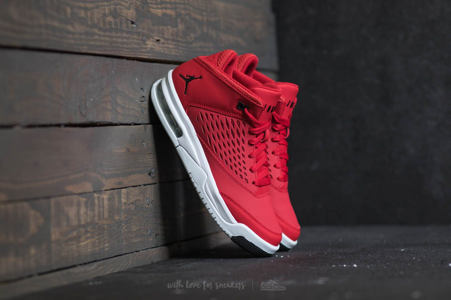 timeless design 87cd2 47583 Jordan Flight Origin 4 BG. Gym Red  Black-Pure Platinum