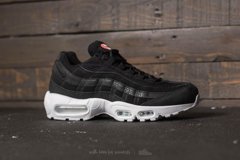 Nike – Air Max 95 Premium Se Mens Shoes BlackBlack White Team Orange