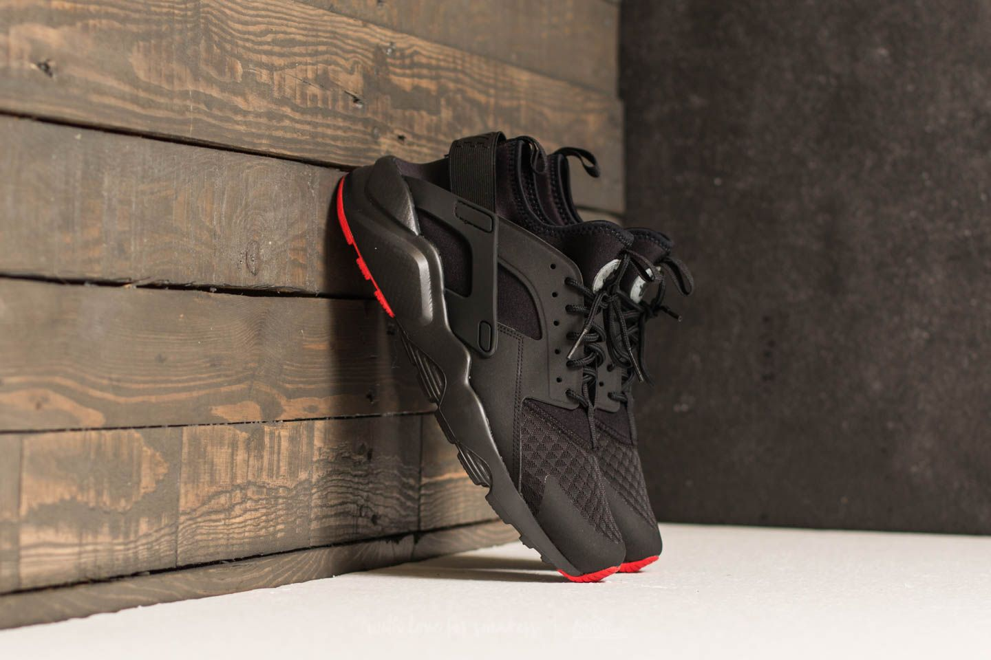 0a925c788fbbc Nike Air Huarache Run Ultra Black/ Metallic Silver | Footshop