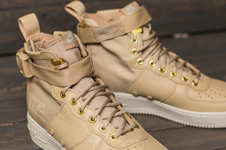 Buty Nike Sf Air Force 1 Mid (mushroommushroom light bone)