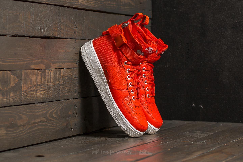 675c6a0379c Nike SF Air Force 1 Mid Team Orange  Team Orange