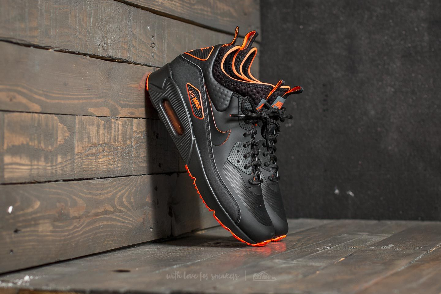 buy online aa707 1768f Nike Air Max 90 Ultra Mid Winter SE. Black  Black-Total Crimson