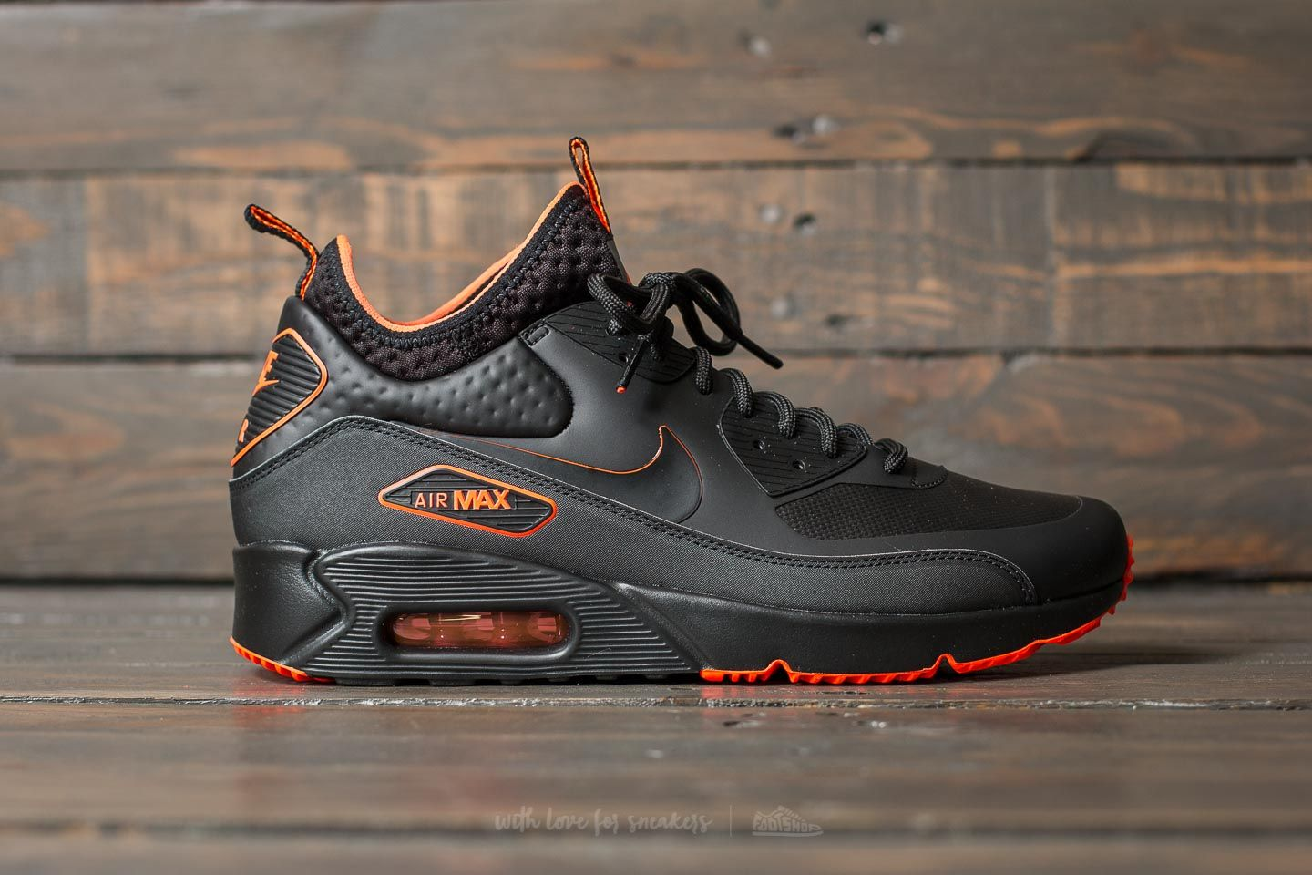Nike Air Max 90 Ultra Mid Winter SE Black Black Total