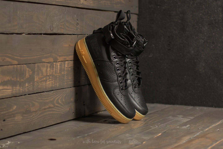 san francisco 7aa3f 23339 Nike SF Air Force 1 Mid Black/ Black-Gum Light Brown | Footshop