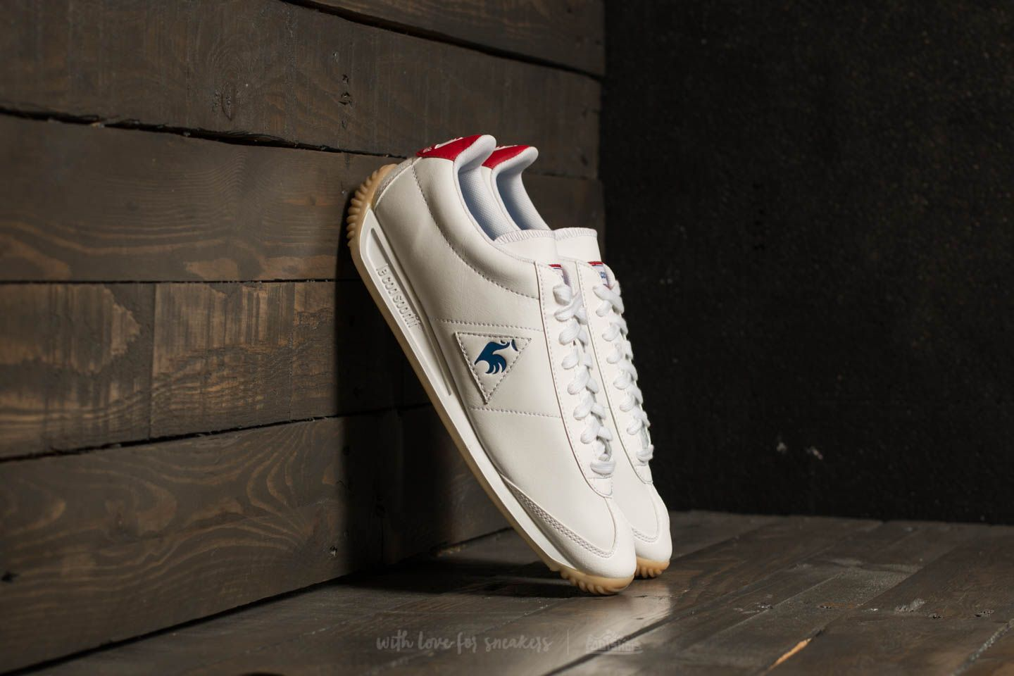 928be4e79 le coq sportif Quartz Lea Sport Gum Optical White/ Classic Blue ...